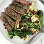 Warm Herb Crusted Steak and Spinach Salad