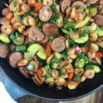 Shrimp and Kielbasa Skillet: One Pan Meal