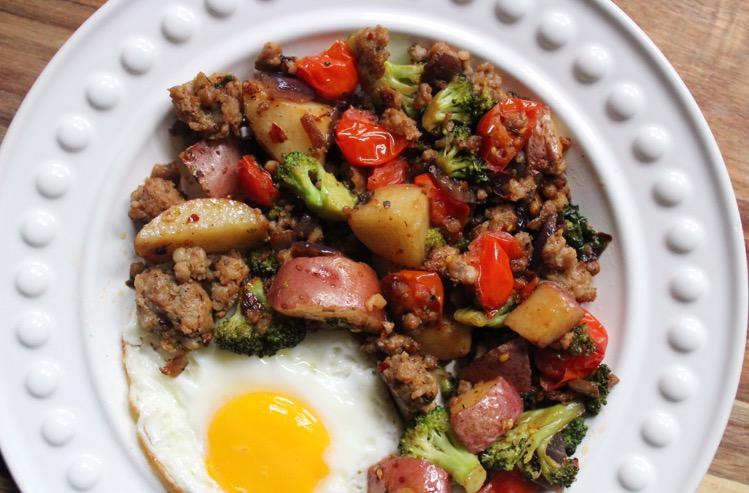 Mediterranean Sausage Hash: Paleo and Whole30 Breakfast