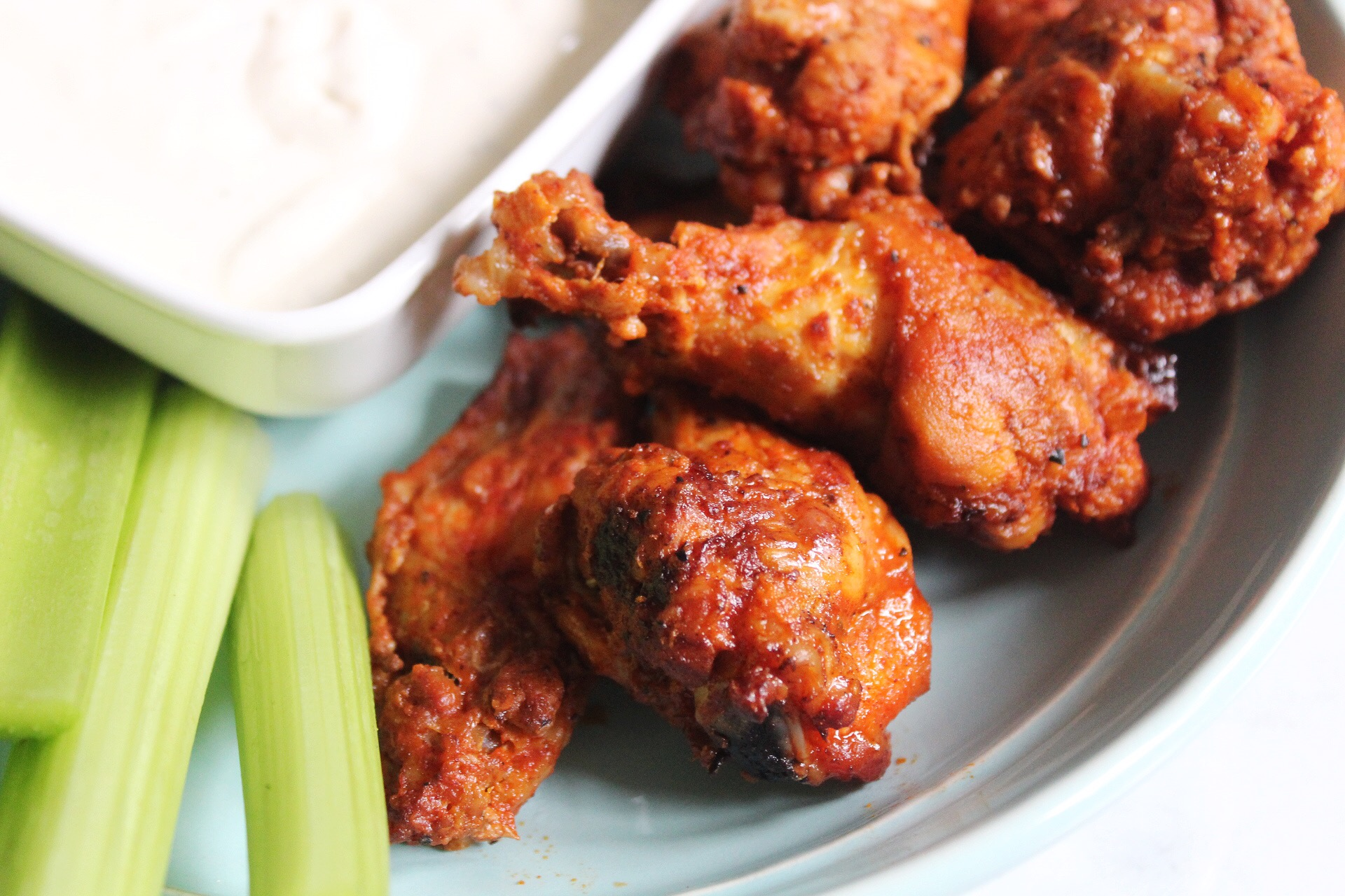 baked buffalo drumsticks