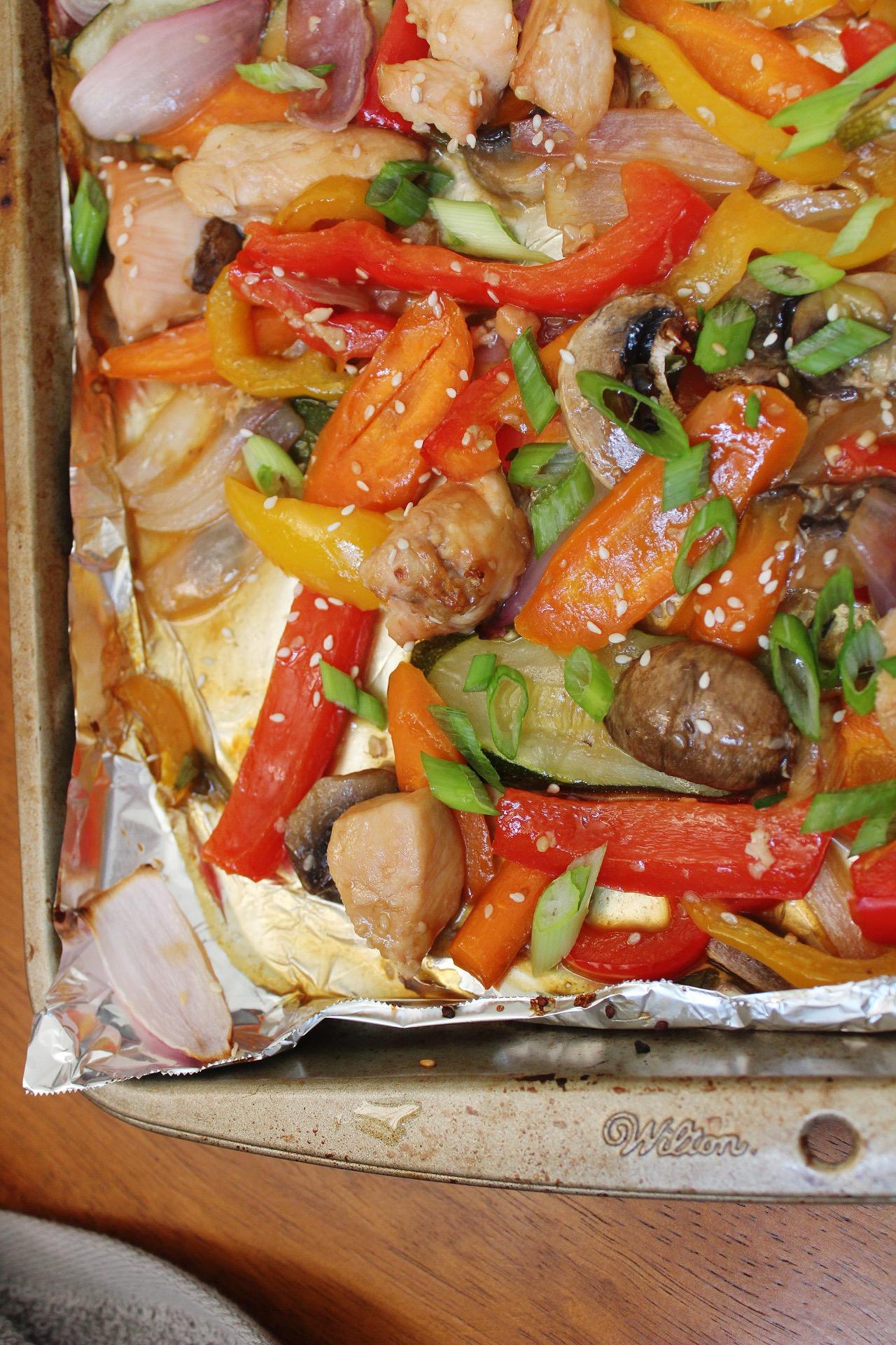 sheet pan stir fry