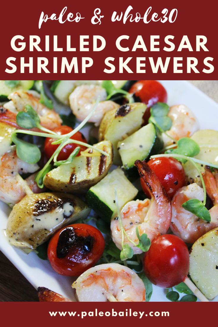 caesar shrimp skewers