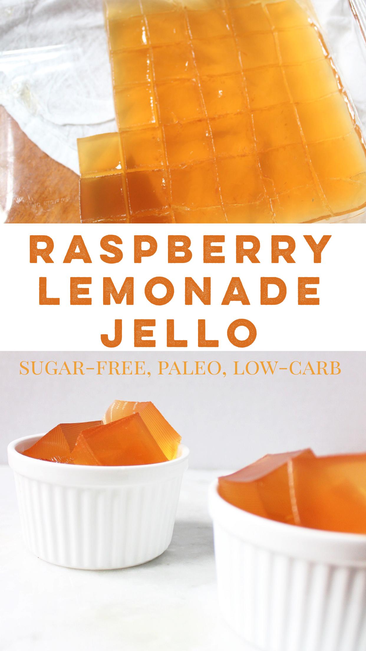 paleo raspberry lemonade jello