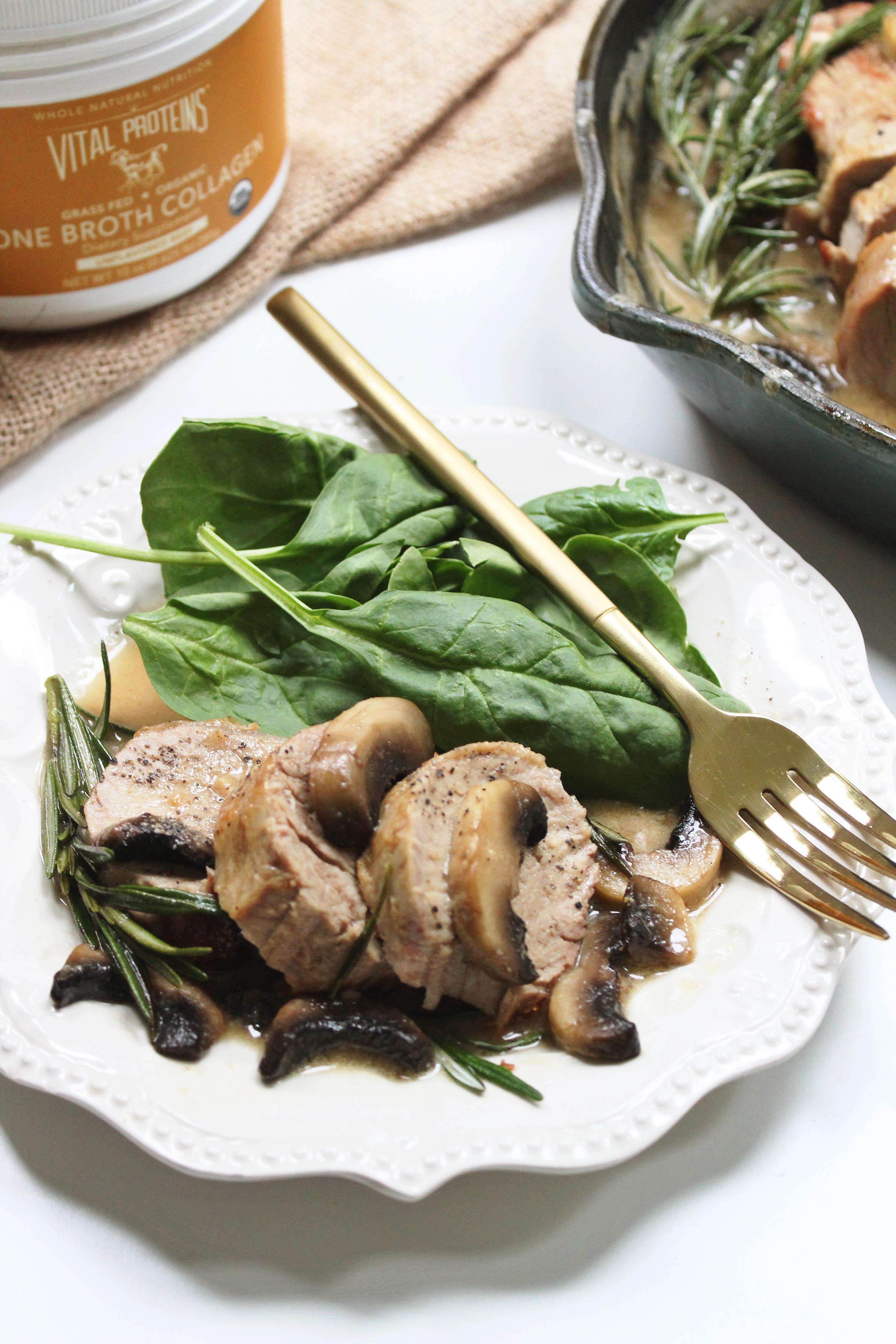 pork tenderloin with rosemary mushroom gravy