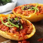 Spaghetti Squash Pizza Bowls: Low Carb, Paleo & Whole30