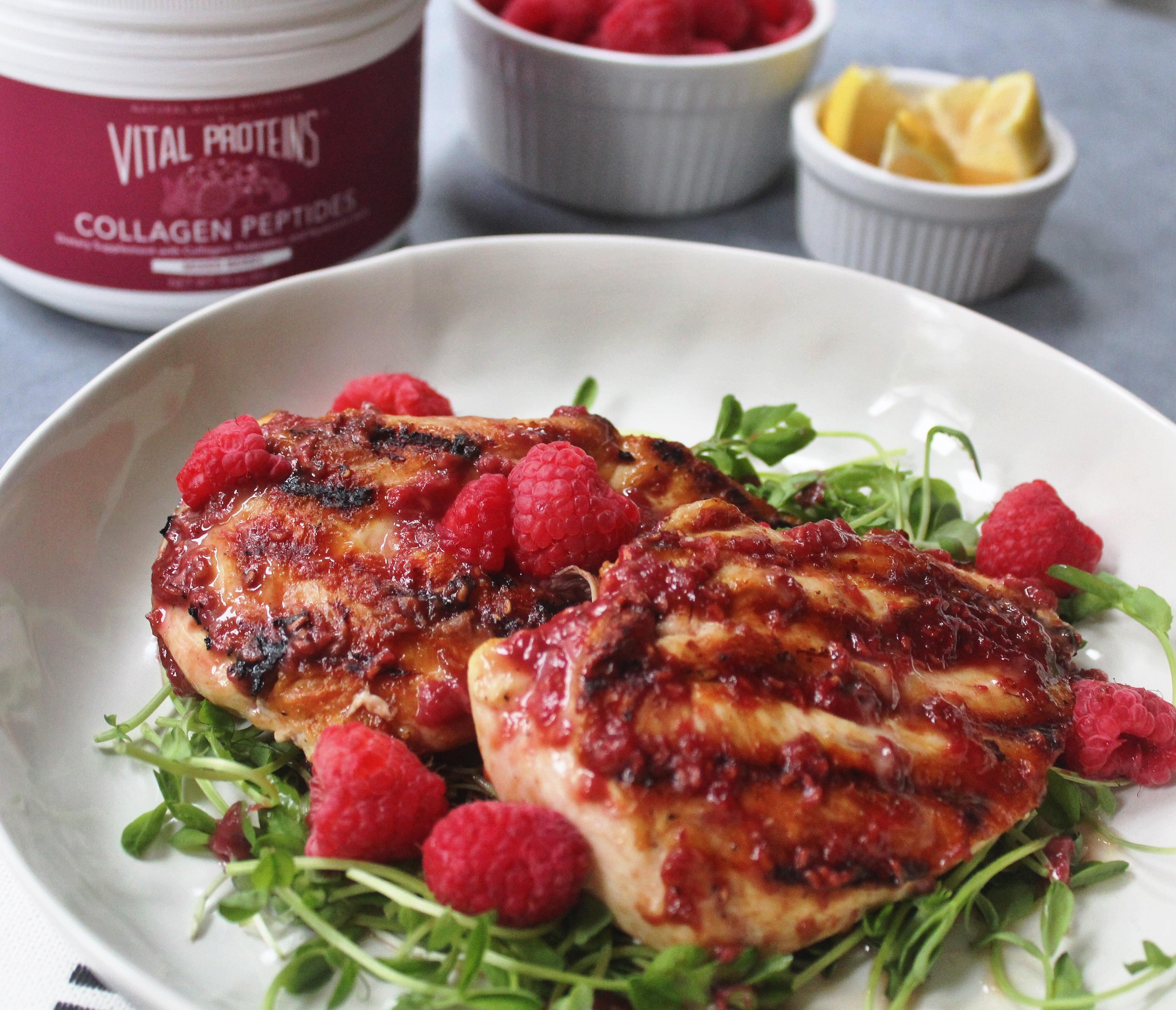 6 Ingredient Berry Glazed Grilled Chicken