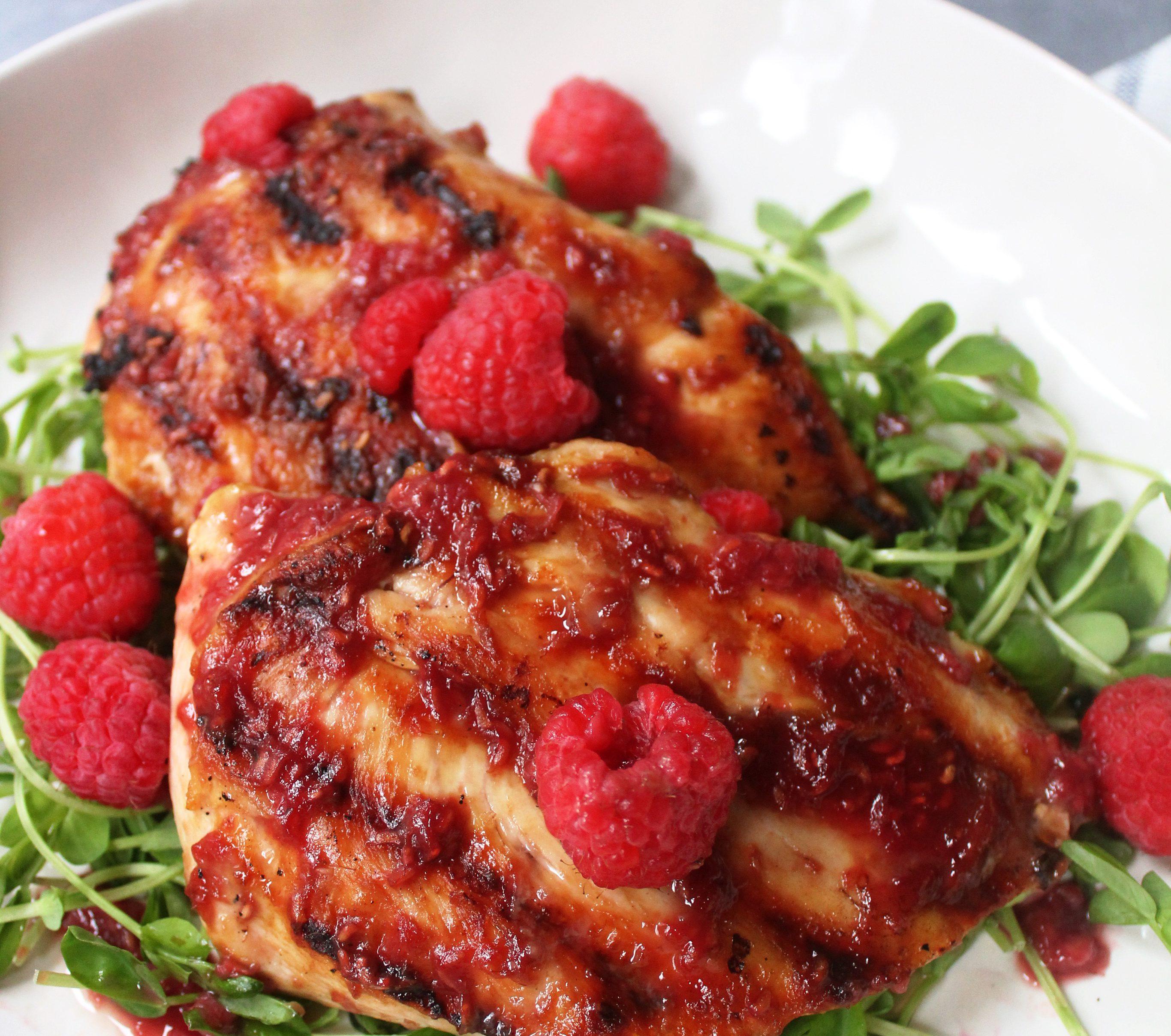 berry glazed grilled chicken