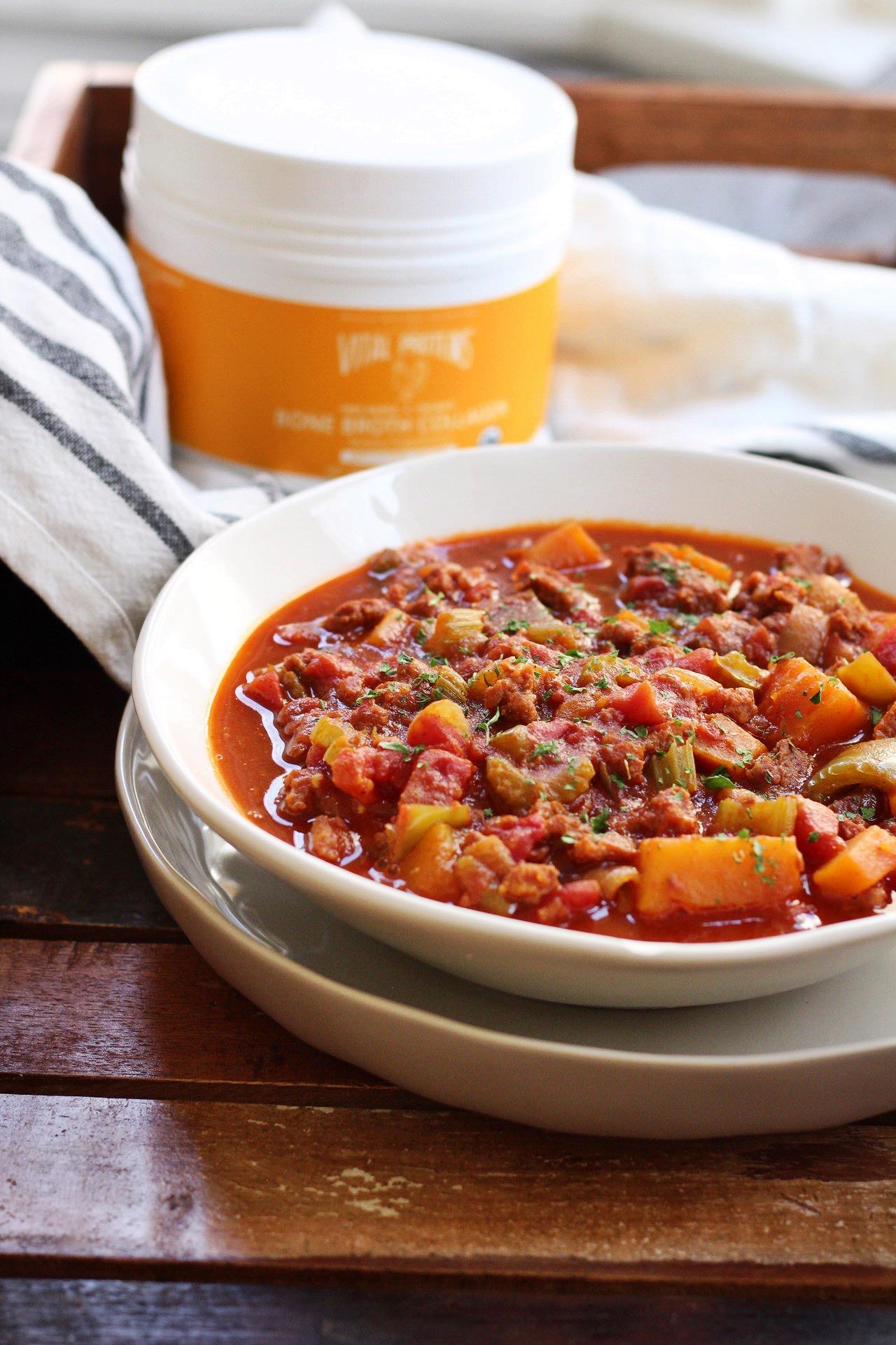 chorizo and butternut squash chili