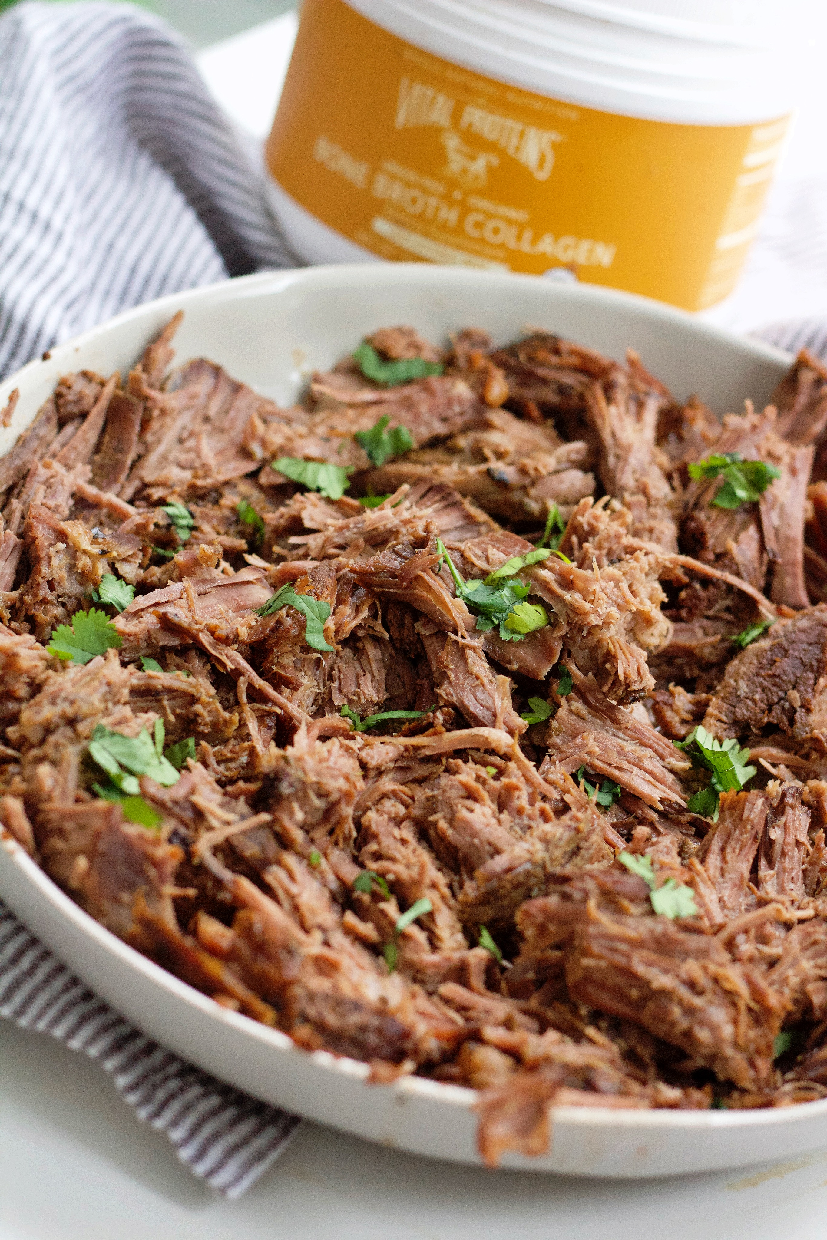 Slow Cooker Sweet Balsamic Beef + Recipe Video!