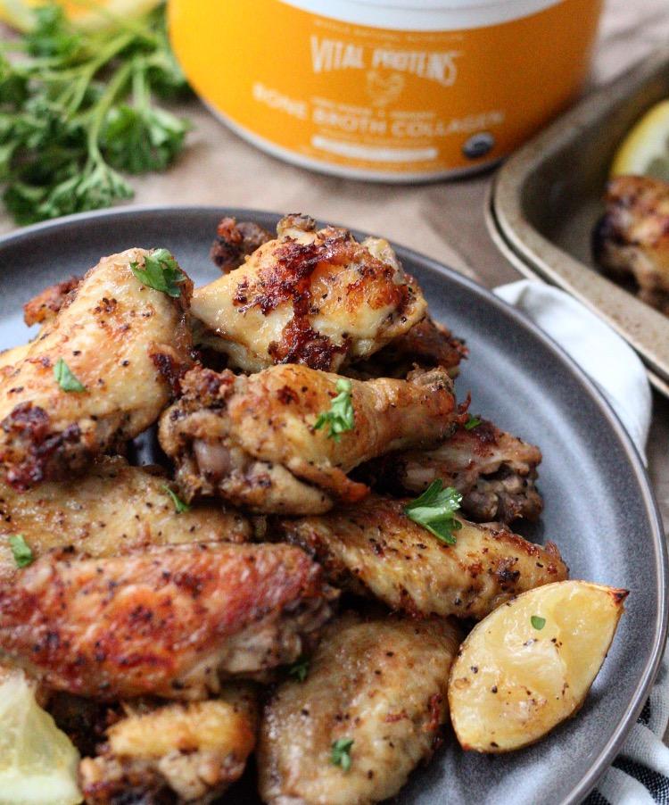 Lemon Pepper Chicken Wings: Paleo, Whole30 & 5 Ingredients!