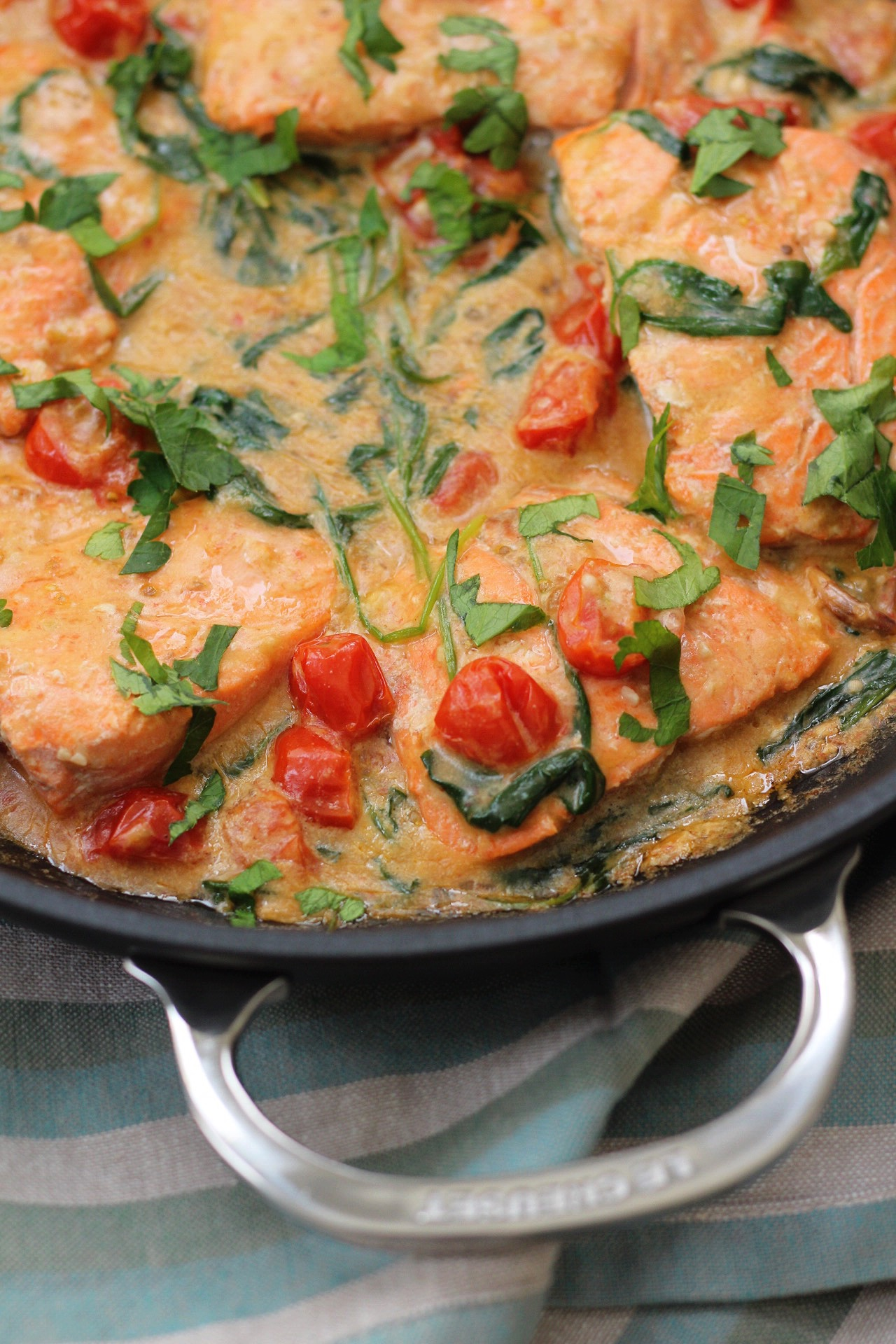creamy skillet whole30 salmon